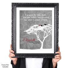 PERSONALIZED ADOPTION Quote Wall Art Print by JaneAndCompanyDesign, $23.00