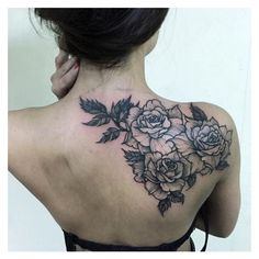 Back shoulder tattoos ❤ liked on Polyvore featuring accessories and body art