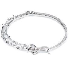 Eddie Borgo Barb Bracelet In Silver ($250) ❤ liked on Polyvore featuring jewelry, bracelets, eddie borgo, silver bracelet bangle, eddie borgo jewelry, bracelet jewelry and eddie borgo bracelet