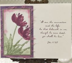 "Easter Card ""I am the resurrection and the Life"" by CraftyCardandWreaths on Etsy"