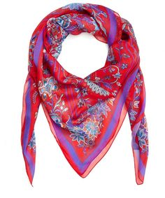 A Liberty hallmark for the modern woman - James Millar, Head of Design. Elegant yet eye-catching, this Liberty scarf is a versatile collectable piece in an irresistibly soft silk. Chiffon Scarf, Silk Chiffon, Liberty Scarf, Red Tree, Scarf Design, Glitz And Glam, Silk Scarves, Vintage Accessories, Alexander Mcqueen Scarf