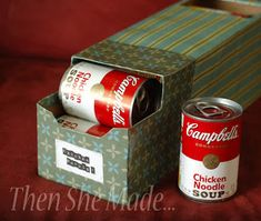 Over at Then She Made is a great DIY pantry organizer from a coke can box! Put some pretty paper on there, add a label and get tidy in an eco friendly, cheap way! Pin It