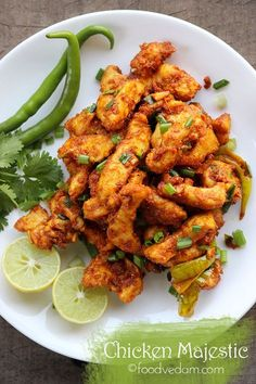 Chicken Majestic – a famous Hyderabadi chicken starter Very tasty and spicy Hyderabadi restaurant style Chicken majestic recipe.It is an Indo-Chinese recipe mostly served as an accompaniment to alcohol………. Indian Chicken Recipes, Veg Recipes, Indian Food Recipes, Asian Recipes, Cooking Recipes, Healthy Recipes, Indian Starter Recipes, Chicken Starter Recipes, Indian Foods