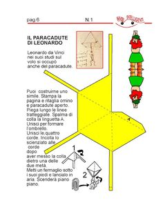 BIMBI INTELLIGENTI: IL PARACADUTE DI LEONARDO DA VINCI  DI BIMBI INTEL... Sunday School Kids, Class Dojo, School Parties, Medieval Art, Art Club, Summer Art, Projects For Kids, Problem Solving, Renaissance