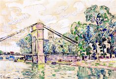 The Athenaeum - The Kerentrech Bridge (Paul Signac - )