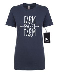 603fe645b8 Farm Sweet Farm Arrow | Farm Girl | Farmer | Tractor | Farm T Shirt |  Women's Fitted T-Shirt | Fashion Fit | Soft