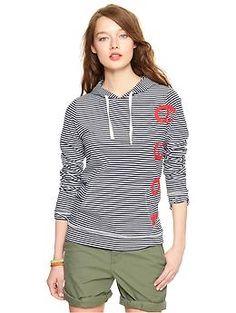 Striped logo sweatshirt - summer chillin shirt