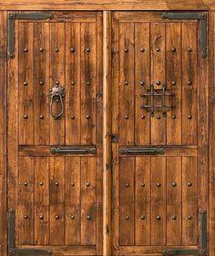 PORTON CLASICO - Porte rustique, porte en bois, porte ancienne, portes en bois, porte extérieure, décoration rustique, porte d'entrée, portes d'entrée, portes rustiques, portes, les portes fait main