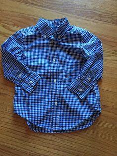 Polo Ralph Lauren Toddler Boys Shirt Blue Checkered Size 2T 2 Long Sleeve | eBay
