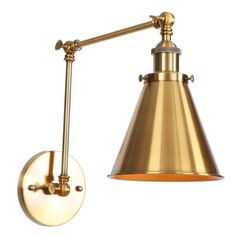 Aiwen Wall Sconces Swing Arm 1-Light Wall L-Amp in Gold Finish in the Wall Sconces department at Lowes.com Wall Mount Light Fixture, Wall Mounted Light, Wall Sconces, Light Fixtures, Bedroom Bar, Swing Arm Wall Lamps, Wall Lights, Ceiling Lights, Drum Chandelier