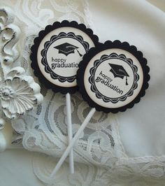Graduation Cupcake Toppers  I'VE HAD 22 PEOPLE REPIN THIS IN THE PAST TWO WEEKS. Something like this might be a good idea. I know, in your spare time.