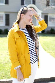 Barbour Trevose Anorak Yellow Raincoat