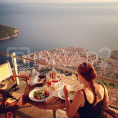 Greetings (and iSnaps) from Croatia  #iSnap2 #mobile #photography #authentic #mobilography #travel #adriatic #sea #aerial #breakfast #food #treat #vacation #summer #croatia #amazing #view #cityscape #coast #colorphotography