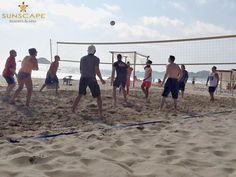 There's nothing better than gathering a group for a game of beach volleyball on our white sand beach! Check out the seaside court at Sunscape Dorado Pacifico Ixtapa!