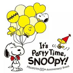Snoopy and Woodstock party time!