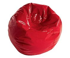 Poltrona a sacco in ecopelle The Glm Bean-Bag rosso - d 100 cm