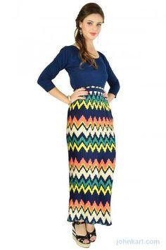 PLEATED TRIBAL MAXI DRESS  $25.00 USD
