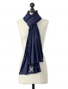 NEW*** Xavier university crystal logo ruffle scarf in navy--cute!