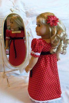 American Girl Caroline 2 Piece Regency Ensemble/ Clothes for American Girl Dolls