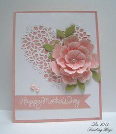 10 Creative Mothers Day Cards DIY Handmade Easy, Elegant and Simple Ideas - Lifestyle Spunk Karten Diy, Fathers Day Cards, Stamping Up Cards, Heart Cards, Flower Cards, Greeting Cards Handmade, Handmade Anniversary Cards, Creative Cards, Diy Cards