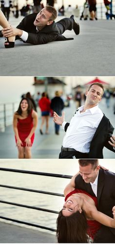 Hilarious and precious engagement photos. Now I need some clients up for the goofy challenge!
