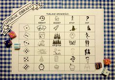 Wyturlaj sobie opowieść! Story Cubes, Teachers Corner, Kids Playing, Storytelling, Activities For Kids, Diagram, Challenges, Teaching, Education