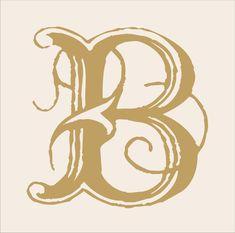 Monogram lettres lettre de pochoirs lettres par SuperiorStencils