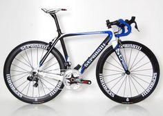 """Trebisacce SL1"" Blue 52 cm Full Carbon Road Bike. 2013. Shimano Ultegra Di2. 50mm Stradalli Carbon Wheels"