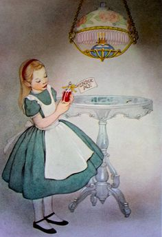 Alice in Wonderland Drink Me Illustration All the best vintage illustrations of yesteryear preserved at vintagebookillustrations.com