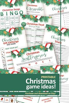 Christmas Games To Play, Printable Christmas Games, Christmas Fun, Boy Shower, Baby Shower Games, Halloween Games, Printable Designs, Baby Shower Printables, Funny Games