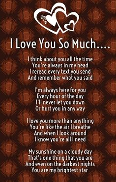 Beautiful I Love You Poems For Her