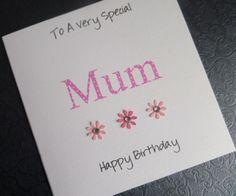 Pink Polka Dot Handmade Mum Birthday Card - SC93 £2.75