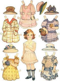 Adorable vintage paper dolls ..... free printables!  Do want!!