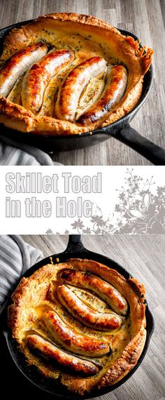 Toad in the Hole is about as British as can be, sausages in a Yorkshire pudding batter and baked to perfection, forget Sunday Lunches this is quintessentially British!