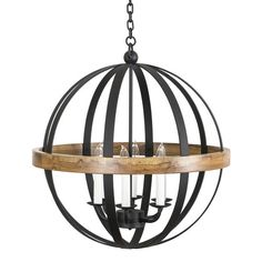 This updated version of an armillary sphere at once gives a nod to both past and present. The impressive hand crafted iron strap sphere is embraced by a delicately grained laurel wood ring. The Luna is a striking addition to any room and dŽcor. Craft Iron, Wood Rings, Globe Pendant, Lighting Design, Chandelier, Ceiling Lights, Antiques, Modern, Medium