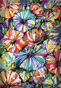 Floral fabric pattern sketch by Elena Bardasheva, via Behance