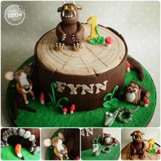 Gruffalo themed birthday cake.