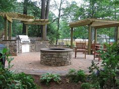 13 Fire Pits and Fireplaces in Outdoor Kitchens | Landscaping Ideas and Hardscape Design | HGTV