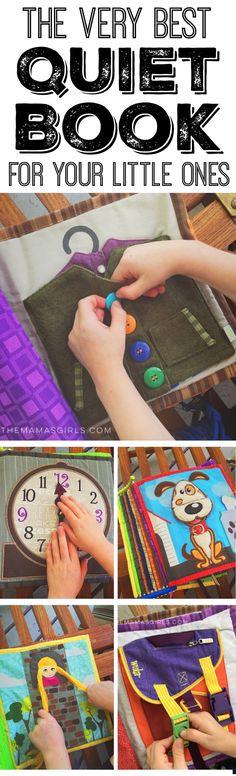 Diy Quiet Books, Baby Quiet Book, Felt Quiet Books, Sewing For Kids, Diy For Kids, Toddler Activities, Activities For Kids, Indoor Activities, Quiet Book Patterns