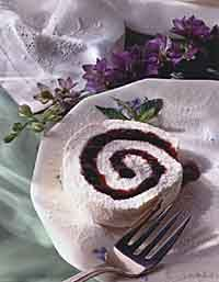 Blueberry cake roll