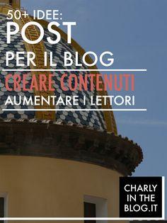 Sei a corto di idee per il tuo blog? Leggi come fare per scrivere post di qualità. http://bit.ly/1BPD6g0  http://charlyintheblog.it