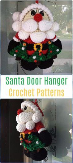 Crochet Santa Door Hanger Paid Pattern - Crochet Santa Clause Patterns