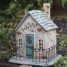 Dragonfly Hollow. www.teeliesfairygarden.com . . . Turn your garden into a place where enchanted little creatures are welcome to stay with this adorable dragonfly hallow! #fairyhouse