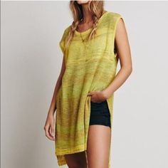 Free People Sunny Days Sweater Cute lime green sweater Free People Tops