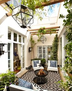 30+ Small Atrium Design for Small House | Smallest house, House and ...