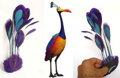 KEVIN from UP - Purple and Teal Peacock Kevin Inspired Headress ...