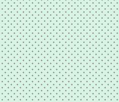 Mint dots fabric by rose-smoke on Spoonflower - custom fabric