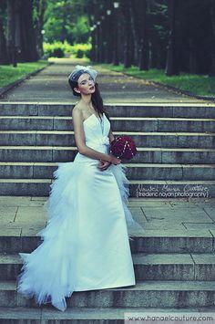 Robe de mariée évolutive, collection Plumetis   Création Hanael Couture©   Crédits photo : Frédéric Noyon