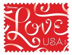EXCITING. louise fili + jessica hische | 2012 usps love stamps
