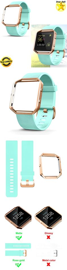 Fit Tech Parts and Accessories 179799: Silicone Wristwatch Replacement Band Fitbit Blaze Smart Watch Strap Turquoise -> BUY IT NOW ONLY: $50.4 on eBay!